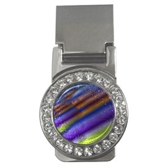 Fractal Color Stripes Money Clips (cz)  by Simbadda