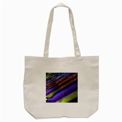 Fractal Color Stripes Tote Bag (cream) by Simbadda