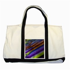 Fractal Color Stripes Two Tone Tote Bag
