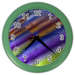 Fractal Color Stripes Color Wall Clocks by Simbadda