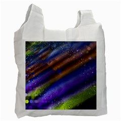 Fractal Color Stripes Recycle Bag (one Side) by Simbadda