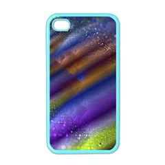 Fractal Color Stripes Apple Iphone 4 Case (color) by Simbadda