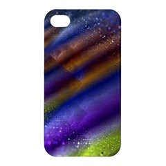 Fractal Color Stripes Apple Iphone 4/4s Premium Hardshell Case by Simbadda