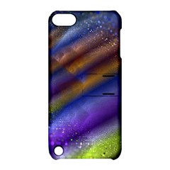 Fractal Color Stripes Apple Ipod Touch 5 Hardshell Case With Stand by Simbadda