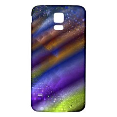 Fractal Color Stripes Samsung Galaxy S5 Back Case (white) by Simbadda