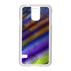 Fractal Color Stripes Samsung Galaxy S5 Case (white)