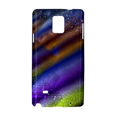 Fractal Color Stripes Samsung Galaxy Note 4 Hardshell Case by Simbadda