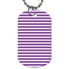 Horizontal Stripes Purple Dog Tag (two Sides) by Mariart
