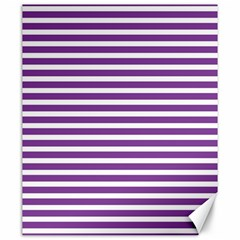 Horizontal Stripes Purple Canvas 20  X 24   by Mariart