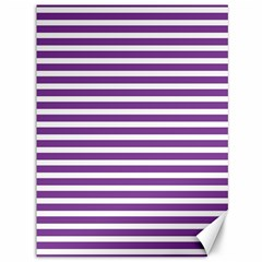 Horizontal Stripes Purple Canvas 36  X 48   by Mariart