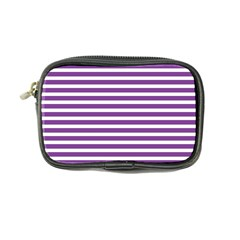 Horizontal Stripes Purple Coin Purse by Mariart