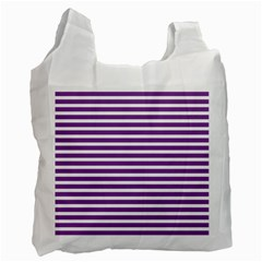 Horizontal Stripes Purple Recycle Bag (one Side) by Mariart