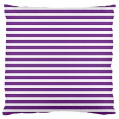 Horizontal Stripes Purple Large Cushion Case (one Side) by Mariart