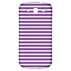 Horizontal Stripes Purple Samsung Galaxy S3 S Iii Classic Hardshell Back Case by Mariart