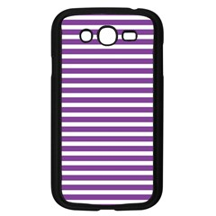 Horizontal Stripes Purple Samsung Galaxy Grand Duos I9082 Case (black) by Mariart