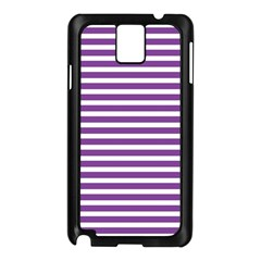 Horizontal Stripes Purple Samsung Galaxy Note 3 N9005 Case (black) by Mariart