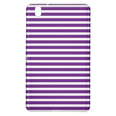 Horizontal Stripes Purple Samsung Galaxy Tab Pro 8 4 Hardshell Case by Mariart