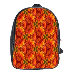 Background Flower Fractal School Bags (xl)  by Simbadda