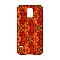 Background Flower Fractal Samsung Galaxy S5 Hardshell Case  by Simbadda