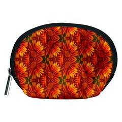 Background Flower Fractal Accessory Pouches (medium)