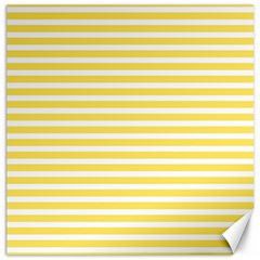 Horizontal Stripes Yellow Canvas 16  X 16   by Mariart
