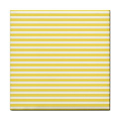 Horizontal Stripes Yellow Face Towel by Mariart