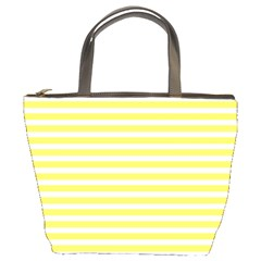 Horizontal Stripes Yellow Bucket Bags by Mariart