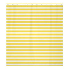 Horizontal Stripes Yellow Shower Curtain 66  X 72  (large)  by Mariart