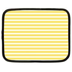 Horizontal Stripes Yellow Netbook Case (xl)  by Mariart