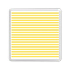 Horizontal Stripes Yellow Memory Card Reader (square)  by Mariart