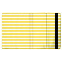 Horizontal Stripes Yellow Apple Ipad 2 Flip Case by Mariart