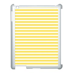 Horizontal Stripes Yellow Apple Ipad 3/4 Case (white) by Mariart
