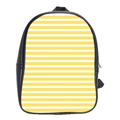 Horizontal Stripes Yellow School Bags (xl)  by Mariart