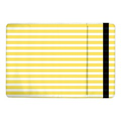 Horizontal Stripes Yellow Samsung Galaxy Tab Pro 10 1  Flip Case by Mariart