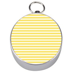 Horizontal Stripes Yellow Silver Compasses by Mariart