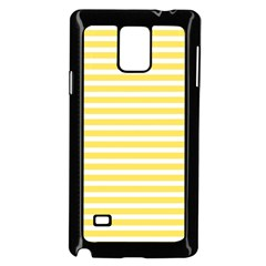 Horizontal Stripes Yellow Samsung Galaxy Note 4 Case (black) by Mariart
