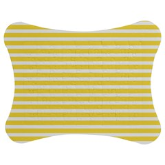 Horizontal Stripes Yellow Jigsaw Puzzle Photo Stand (bow) by Mariart