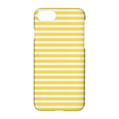Horizontal Stripes Yellow Apple Iphone 7 Hardshell Case by Mariart