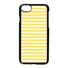 Horizontal Stripes Yellow Apple Iphone 7 Seamless Case (black) by Mariart