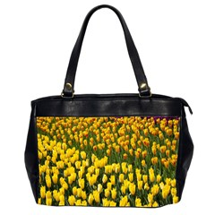Colorful Tulips In Keukenhof Gardens Wallpaper Office Handbags (2 Sides)  by Simbadda
