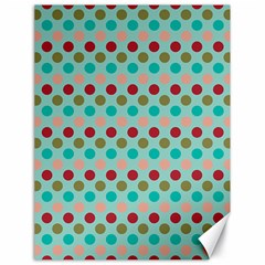 Large Colored Polka Dots Line Circle Canvas 18  X 24   by Mariart