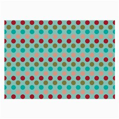 Large Colored Polka Dots Line Circle Large Glasses Cloth (2 Side) by Mariart