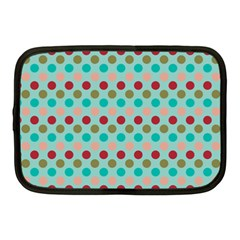 Large Colored Polka Dots Line Circle Netbook Case (medium)  by Mariart