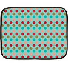 Large Colored Polka Dots Line Circle Fleece Blanket (mini) by Mariart