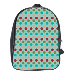 Large Colored Polka Dots Line Circle School Bags(large)