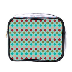 Large Colored Polka Dots Line Circle Mini Toiletries Bags by Mariart