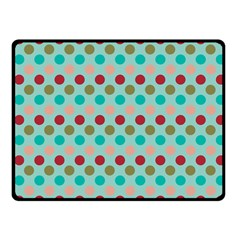 Large Colored Polka Dots Line Circle Fleece Blanket (small) by Mariart