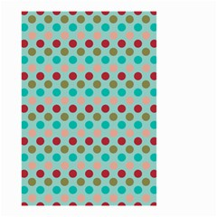 Large Colored Polka Dots Line Circle Small Garden Flag (two Sides) by Mariart