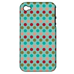 Large Colored Polka Dots Line Circle Apple Iphone 4/4s Hardshell Case (pc+silicone) by Mariart