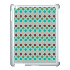 Large Colored Polka Dots Line Circle Apple Ipad 3/4 Case (white) by Mariart
